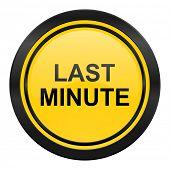 last minute icon, yellow logo,
