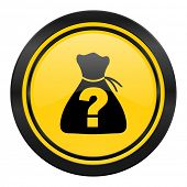 riddle icon, yellow logo,