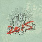 Christmas Vintage Poster. New year 2015.