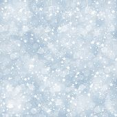 Merry Christmas Light Blue Background with Stars