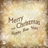 Merry Christmas Golden Card
