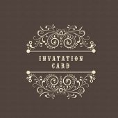 Floral decorated beautiful Invitation card design.