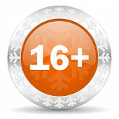 adults orange icon, christmas button