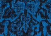 Fabric Texture Endless Pattern, Black And Blue