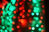 Abstract natural blur defocussed background black, soft focus, greeting holiday card