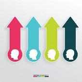 Vector Infographic Template Business Silhouette Head