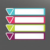 Modern Vector Abstract Colorful Banner Infographic Elements With Triangles
