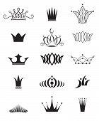 foto of crown jewels  - Set of modern unusual crowns - JPG