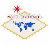 Постер, плакат: Добро пожаловать в мир знак