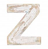 Painted on wood alphabet, letter Z
