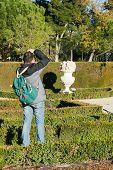 Tourist Snaps A Photo