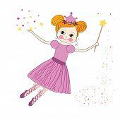 Cute princess fairy vector
