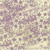 Seamless floral grunge background