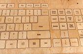 Original keyboard of wood