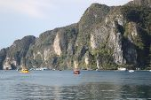 Scenic Views Of The Coastline Of Phi Phi Island