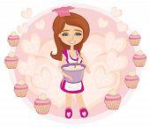Retro Kitchen Girl