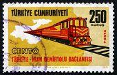 Postage Stamp Turkey 1971 Turkey-iran Railroad