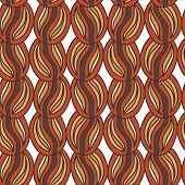 Retro Coffee Beans Doodle Seamless Pattern