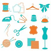 vector set of sewing equipment and stuff