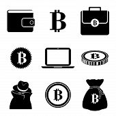 image of bitcoin  - Bitcoin design over white background - JPG