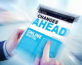 stock photo of future  - Digital Online News Changes Ahead Future Working Concept - JPG