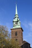 stock photo of church  - The spire of All Hallows by the Tower church  - JPG