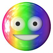 picture of emoticons  - Emoticon rainbow color plastic smiling face texture - JPG