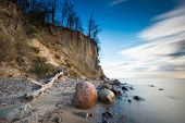 pic of cliffs  - Beautiful cliff on sea shore - JPG