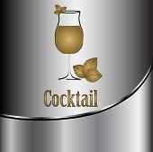 image of cocktail menu  - beautiful cocktail glass design vector menu background - JPG