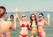 image of waving hands  - summer vacation - JPG
