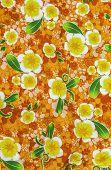 image of batik  - Beautiful pattern flowers on batik fablic background - JPG