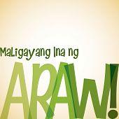 picture of filipino  - Bright typographic Filipino  - JPG