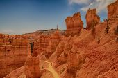 stock photo of unique landscape  - Beautiful landscape from Bryce Canyon National Park in Utah - JPG