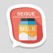 pic of packages  - milk package flat icon with long shadoweps10milk package flat icon with long shadoweps10 - JPG