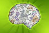 picture of vibrator  - Czech money in the shape of the brain  - JPG