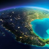 stock photo of gulf mexico  - Highly detailed planet Earth - JPG