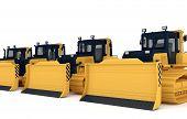 image of bulldozer  - Yellow bulldozers - JPG