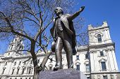 picture of prime-minister  - A statue of former British Prime Minister David Lloyd George situated on Parliament Square in London - JPG