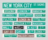 image of rockefeller  - Vector illustration of the most famous New York City street signs - JPG