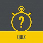 stock photo of quiz  - Timer with a question - JPG