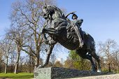 picture of kensington  - The Physical Energy statue located in Kensington Gardens London - JPG