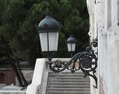 Street lamps on the wall