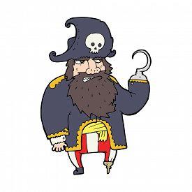 picture of peg-leg  - cartoon pirate - JPG