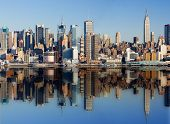 image of new york skyline  - New York City - JPG