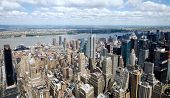 Aerial view of Manhattan taken from the top of the Empire State Building in New York City.