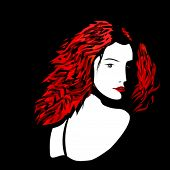Woman with red hairs
