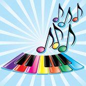 pic of rainbow piano  - Music background - JPG