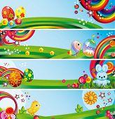 Vector banners de Pascua