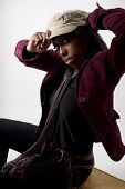 foto of newsboy  - hip young black woman - JPG