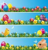 picture of pasqua  - Set of Easter banners - JPG